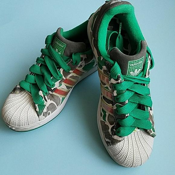 Le adidas superstar vintage g5 serie verde esercito mimetico poshmark